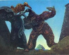 Barbarians Marching to the West - Max Ernst, 1937