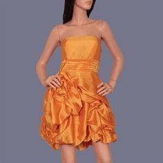 Burnt Orange Prom Dress could be modified to be a longer knee length skirt... comes in S, M, L or XL $30.00