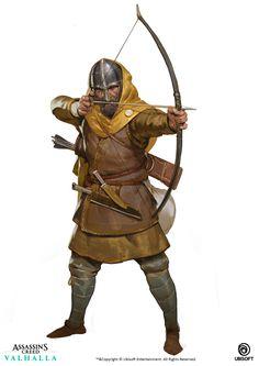 Game Character Design, Fantasy Character Design, Character Concept, Character Art, Viking Character, Medieval Archer, Medieval Fantasy, Archer Characters, Fantasy Characters