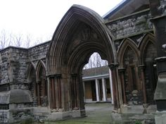 Kennington - shell of a church bombed during WW2