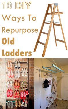 10 DIY Ways To Repurpose Old Ladders