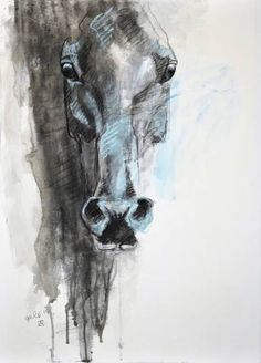"Saatchi Art Artist Benedicte Gele; Drawing, ""Alert 2t"" #art"