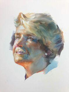 Stan Miller Watercolor Face, Watercolor Artwork, Watercolor Portraits, Figure Painting, Painting & Drawing, Guache, Portrait Art, Figurative Art, Painting Inspiration