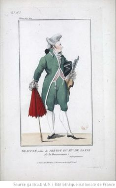 [La dansomanie, ballet-pantomime de Gardel et Méhul : costume de Beaupré (prévôt du maître de danse)] Éditeur : Martinet (Paris) Date d'édition : 1809 Sujet : Costume de danse