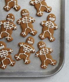 No bones about it- these  cookies would be a fun Halloween goodie. Via Real Simple