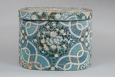 Antiques & Fine Art - Pollack, Frank & Barbara American Antiques & Art - Labeled Hannah Davis Band Box
