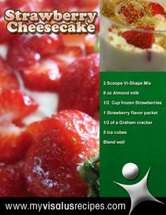 Strawberry Cheesecake Shake. For full recipe ingredients and instructions, click the image!