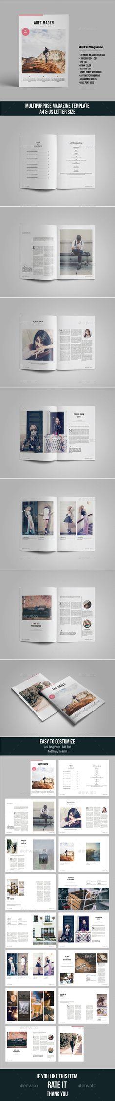 ARTZ Magazine #architecture #professional Download : https://graphicriver.net/item/artz-magazine/15021195?ref=pxcr