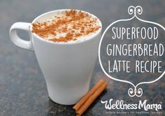 Delicious homemade holiday superfood gingerbread latte, packed with nutrition and healthy fats!