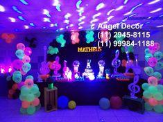 BALADA MENINO NEON COLORS TEEN decoração mesa bolo Neon Party Themes, Bolo Neon, Cool Glow, Teenager Birthday, Secret Party, Birthday Parties, Birthday Cake, Glow Party, Ideas Para Fiestas
