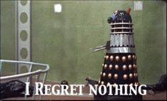 Doctor Who Dalek I regret nothing gif
