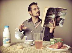 little breakfast by rudy g autoportrait
