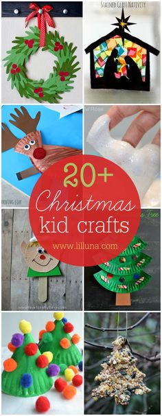 20+ Christmas Kid Crafts                                                                                                                                                                                 Más