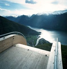 Aurland Lookout, Norway by Todd Saunders & Tommie Wilhelmsen The site is above Aurland, a small town in Sogn og Fjordane, one of the larger fjords on the West Coast of Norway. Aurland is three hours...