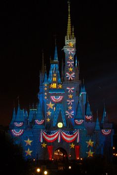 Happy Independence Day to those celebrating! Disney Castle