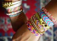I remember making tons of these when I was young!  Friendship bracelets.
