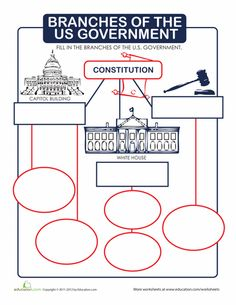 Worksheets: Branches of the U.S. Government.... I prefer the word activity sheet hahhaha