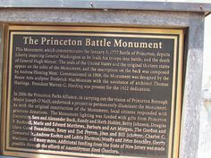 Princeton New Jersey Monument