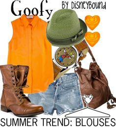DisneyBound. Goofy inspired outfit. Disney. The Fab Five. Goof troop. #disneybound