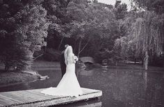 Romantic Wedding by the water, willow tree and stone bridge in The Kelly Gallery Gardens. #willow #willows #bythewater #water #romantic  #vintage #weddings #love #couples #kansas #forest #nature #venue #venues #docks #weddingideas #outdoorceremony #ceremonies #outdoor