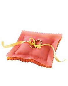 Pretty layered organza ring pillow.