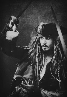 the pirates of the caribbean - johnny deep as captain jack sparrow