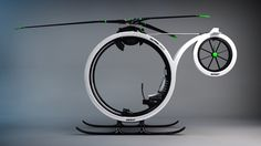 'Zero' Helicopter Concept by Héctor Del Amo. (I think it needs a bigger motor - just saying)