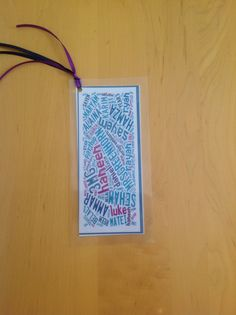 I made these bookmarks as end of term gifts for my students. I used www.taxego.com