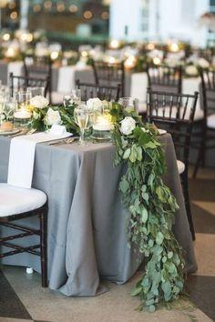 Grey Wedding Theme, Floral Wedding, Wedding Colors, Wedding Reception, Wedding Flowers, Dream Wedding, Trendy Wedding, Reception Ideas, Long Wedding Tables