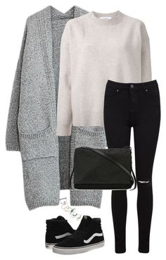 """Untitled #3236"" by meandelstyle ❤ liked on Polyvore featuring Le Ciel Bleu, Miss Selfridge, Vans, Rick Owens and Topshop"