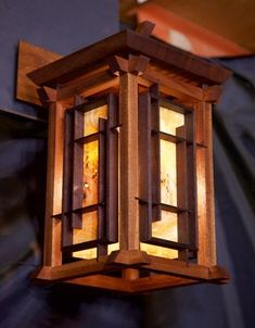 Japanese Lantern Wall Sconce by Jason Musso #woodworkingprojects #ProfitableWoodworkingProjects