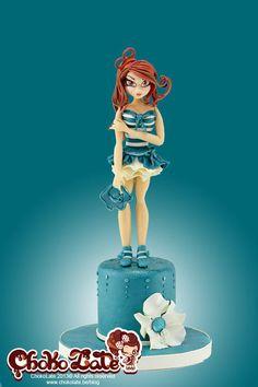 Lady Blue  Cake by ChokoLate