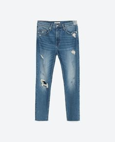 0e2aa0305dd23 Image 8 of MID-RISE CIGARETTE JEANS from Zara