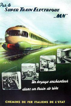 Super Train Electrique poster, FS c. 1955 | collection Spoorwegmuseum, Utrecht