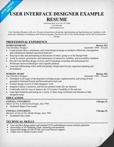user interface designer resume example uid resumecompanion com