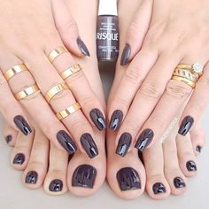 Beautiful Nail Designs To Finish Your Wardrobe – Your Beautiful Nails Gorgeous Nails, Love Nails, How To Do Nails, Pretty Nails, My Nails, Feet Nails, Luxury Nails, Manicure E Pedicure, Toe Nail Designs