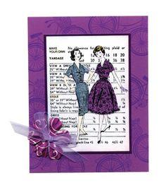 Vintage Fashion Card