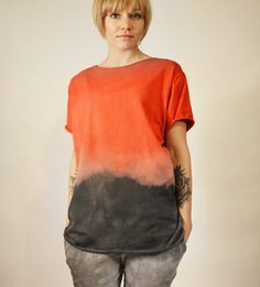 hand dyed unique t-shirt by goshko T Shirts For Women, Unique, Clothes, Tops, Fashion, Outfits, Moda, Clothing, Fashion Styles