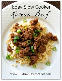 365 Days of Slow Cooking: Recipe for Easy Slow Cooker Korean Beef