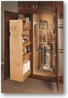 Broom Cabinet With Pull Out For The Home In 2019 Broom Cabinet Laundry Cupboard Medallion