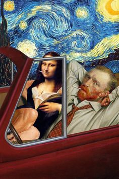 Funny Collages by Barry Kite Barry Kite is an American artist who diverts  the famous masterpieces