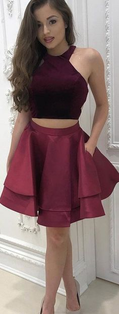 Two Pieces Prom Dresses 2017, Prom Dresses 2017, Short Prom Dresses, Two Piece Prom… - https://sorihe.com/adidas/2018/03/14/two-pieces-prom-dresses-2017-prom-dresses-2017-short-prom-dresses-two-piece-prom/