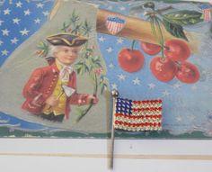 Vintage 1980s Beautiful Patriotic Rhinestone Flag by RitasGarden, $12.95