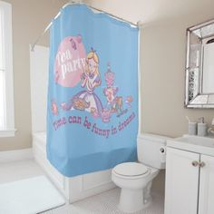 Alice Time Can Be Funny In Dreams Shower Curtain , Funny Shower Curtains, Custom Shower Curtains, Dream Shower, 3d Texture, Vintage Nautical, Business Supplies, Powder Room, Tub, Alice