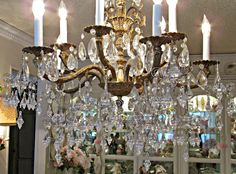 Penny's Vintage Home: Adding Bling to a Chandelier