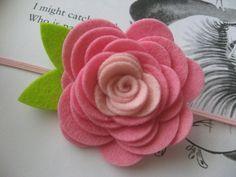 ideas para flores de fieltro - 5 -