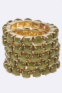 Tayloe Stacked Olive Ring $16