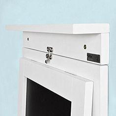 SoBuy® Tavolo da muro pieghevole,con lavagna ,75*50 cm, bianco ...