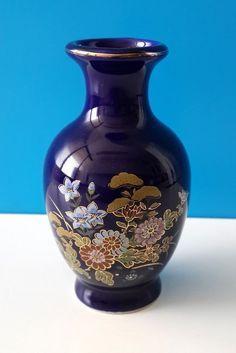 Vase, Porcelain Ceramics, Cobalt Blue, Antique Furniture, Light Fixtures, Oriental, Miniatures, Japanese, Vintage