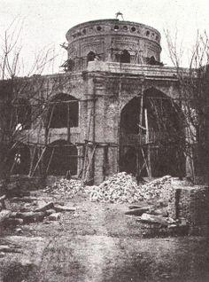 A construction photo of the Mashriqu'l-Adhkár of Ishqabad